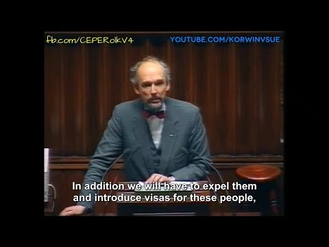Janusz Korwin-Mikke MEP warned Europe about migrants in 1993 [english subtitles]
