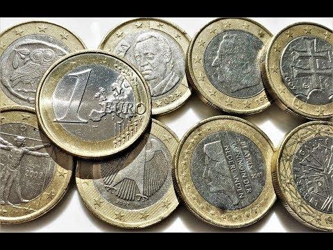 1 Euro France Germany Italy Spain Austria Belgium Slovakia Netherland 1999 2011 2009 2008 2007 2002