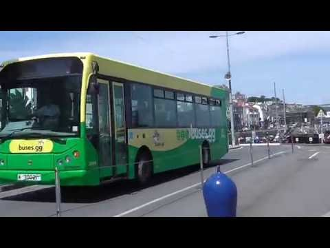 GUERNSEY BUSES ARRIVING AT ST PETER PORT BUS STATION
