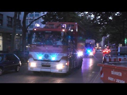 Einsatzfahrten Zugunfall Mannheim 01.08.2014