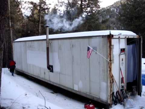 Shipping Container Cabin bug out shipping container cabin.mpg - youtube