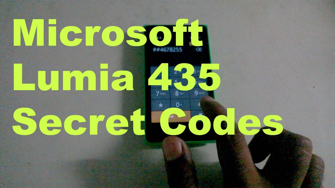 Microsoft Lumia 435 Secret Codes - YouTube