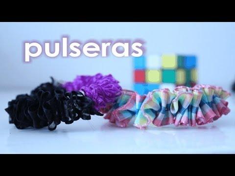 PULSERAS con listones o cinta satinada ✩ ¡Muy fáciles! ✩ crea tus accesorios / DIY bracelets