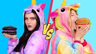 Sfida Tra Cibo Da Unicorno Buono vs Cibo Da Unicorno Cattivo! / 11 Ricette Di Unicorno Arcobaleno