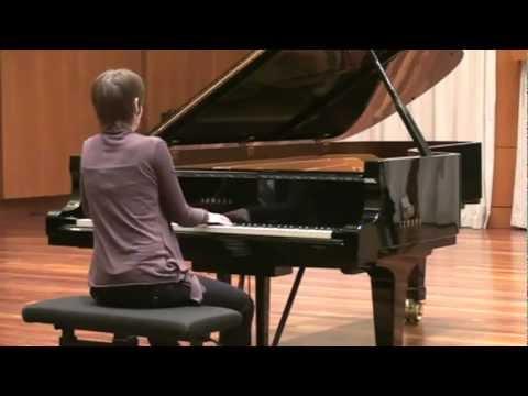 Nataliya Kudritskaya is playing piano