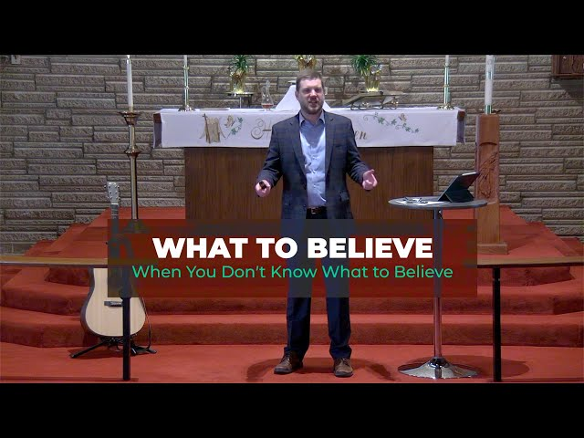 What to Believe When You Don't Know What to Believe