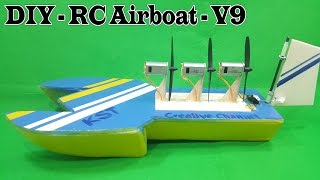 Airboat plans rc woodworking challenge how to make a rc airboat three 180 motor version 9 malvernweather Gallery