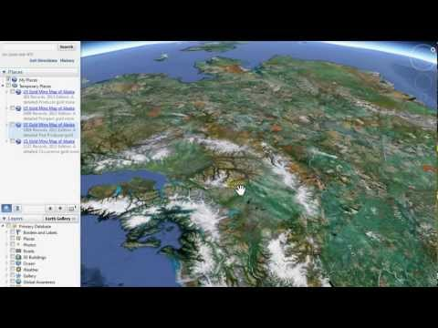 2013 US Gold Maps Alaskan 4-Part Federal Prospecting Map Demonstration/Preview