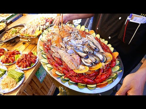 Chinese Street Food – SEAFOOD, INSECTS, NIGHT MARKET FOOD Nanning China