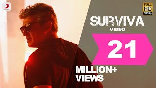 Vivegam - Surviva Official Song Video | Ajith Kumar | Anirudh | Siva thumbnail