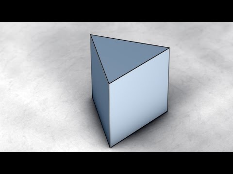 Solid Shapes And Their Nets: Triangular Prism / Трикутна призма / Треугольная призма