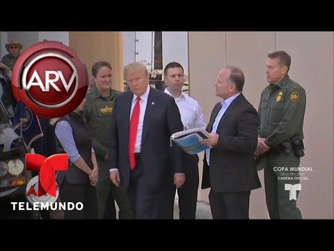 Reacciones encontradas por visita de Trump a California | Al Rojo Vivo | Telemundo