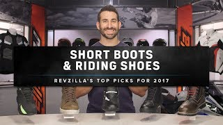 Best Motorcycle Shoes and Short Riding Boots 2017 at RevZilla.com