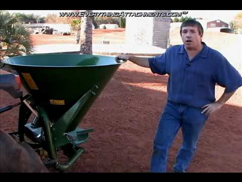 How To: Agrex Fertilizer Spreader, PTO Driven, 3-Point Hitch