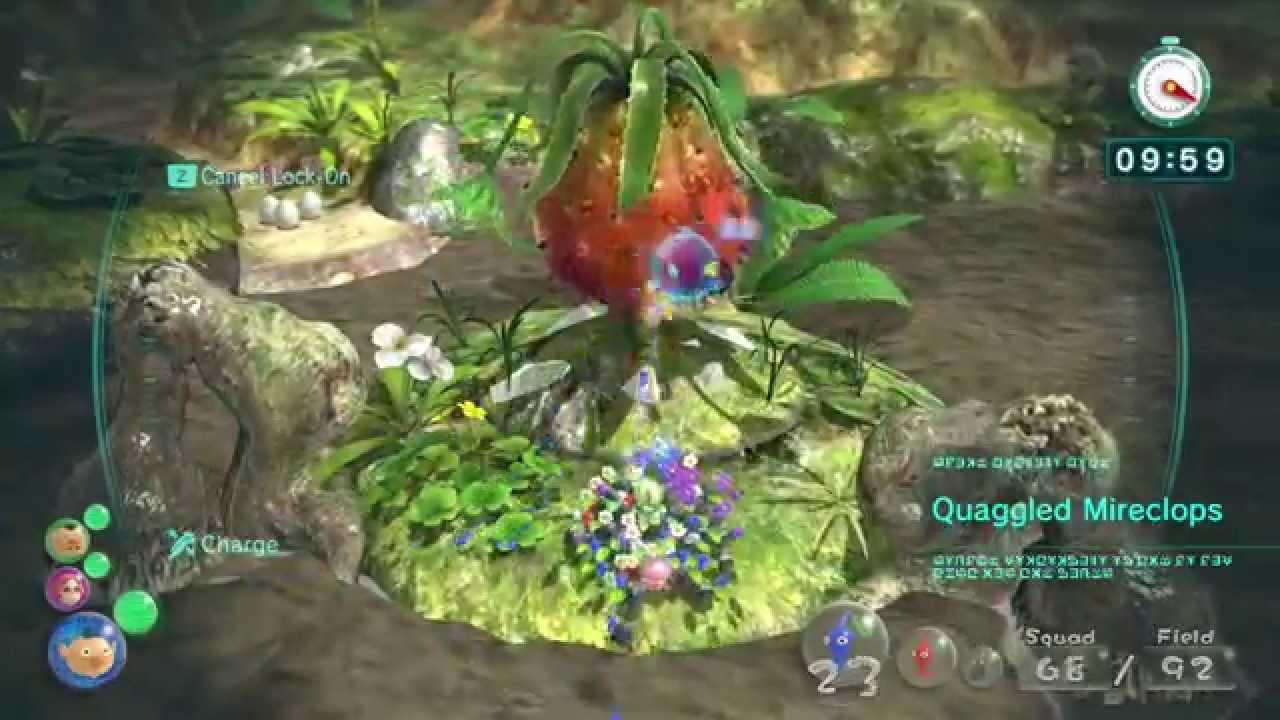 Pikmin 3 Boss 5 Quaggled Mireclops Youtube
