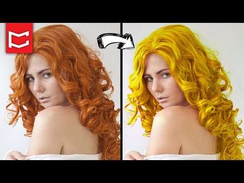 Photoshop 1 Dakikada Saç Rengi Değiştirme