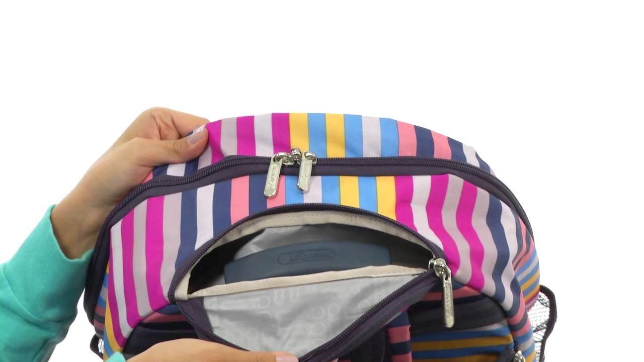 LeSportsac Luggage Rolling Backpack SKU:#8165628 - YouTube