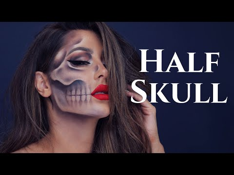 Half Skull Halloween Tutorial- CHRISSPY