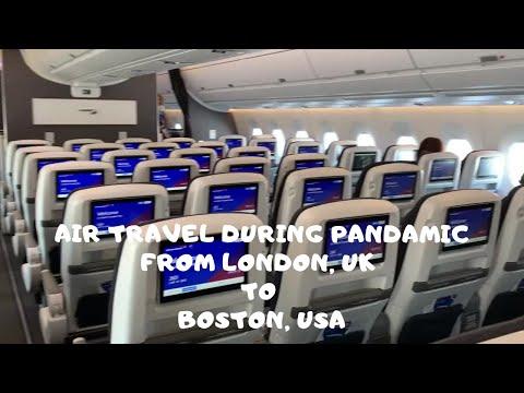 Air Travel During Coronavirus Pandemic From London Heathrow To Boston Logan, USA