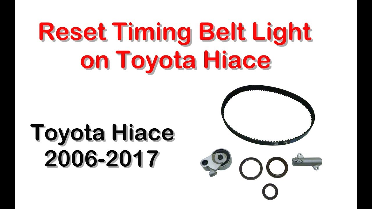 Reset Timing Belt Light on Toyota Hiace