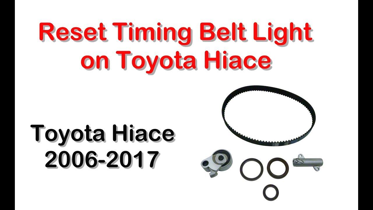 medium resolution of reset timing belt light on toyota hiace youtube belt light wiring diagram