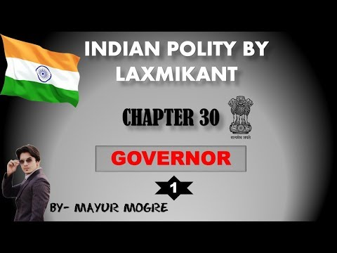 Indian Polity (chapter 30)- Governor (1)|for UPSC,State PSC,ssc cgl, mains GS 2