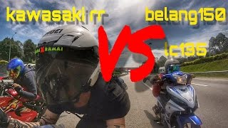 kawasaki rr vs belang vs lc ride to ipoh