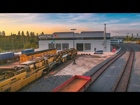 Rail track maintenance and track laying machines - Deutsche Plasser | Construction timelapse