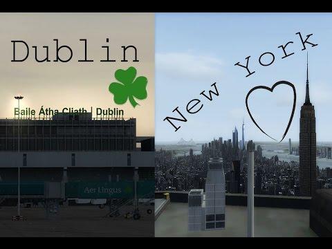 Dublin to New York - Full Flight - US Airways 757-200