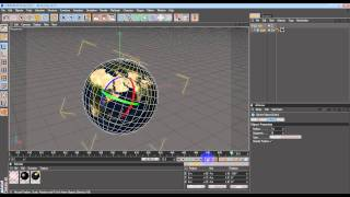 Cinema4D Tutorial: Planet Rotation with proper Axis and Time Line smoothness.