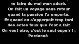 Demander Pardon - Sherazade  Parole
