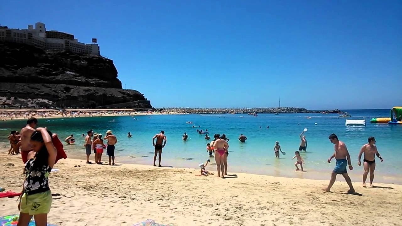 Gran Canaria Amadores Beach Youtube
