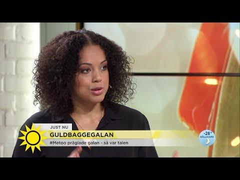 """Hon skrev #tystnadtagning-talet under Guldbaggegalan: """"Jag hoppas talet blir verklighet"""""""
