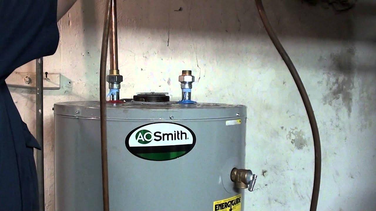diy replacing 75 gal with a 50 gallon natural gas a o smith(whole ...