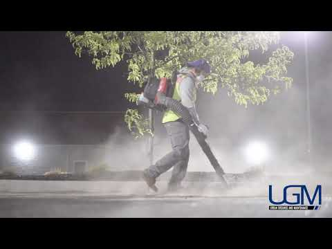 Large Parking Lot Sweeper Services  - Lincoln & Omaha Nebraska - Urban Grounds & Maintenance