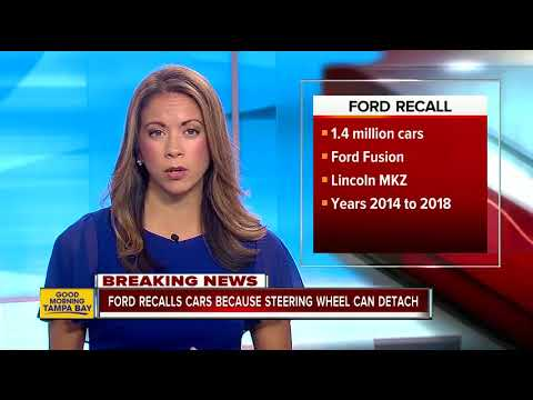 Ford recalls almost 1.4M cars; steering wheel can detach from steering column