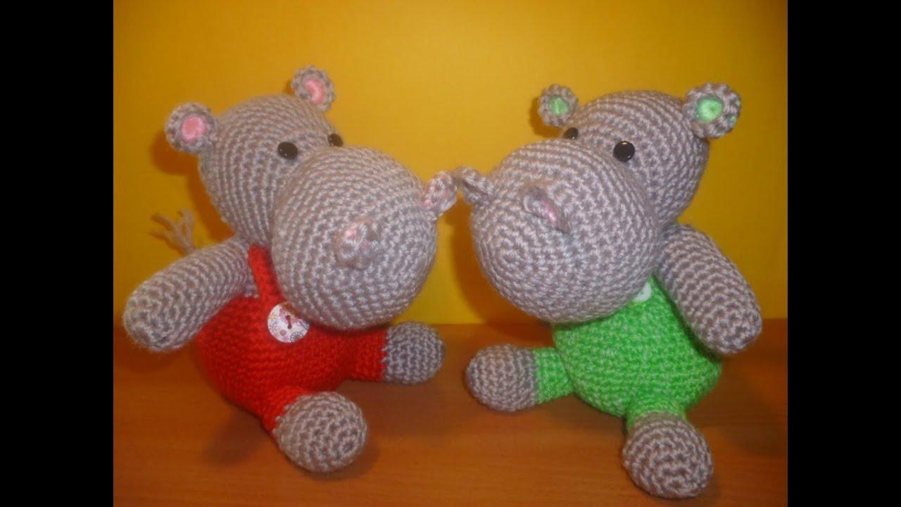 Ippopotamo Uncinetto - Amigurumi Tutorial -Hippopotamus ...