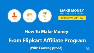 Hey guys welcome to another fresh video ,in this i will show you how earn money from flipkart affiliate program ,yes it's true good fr...
