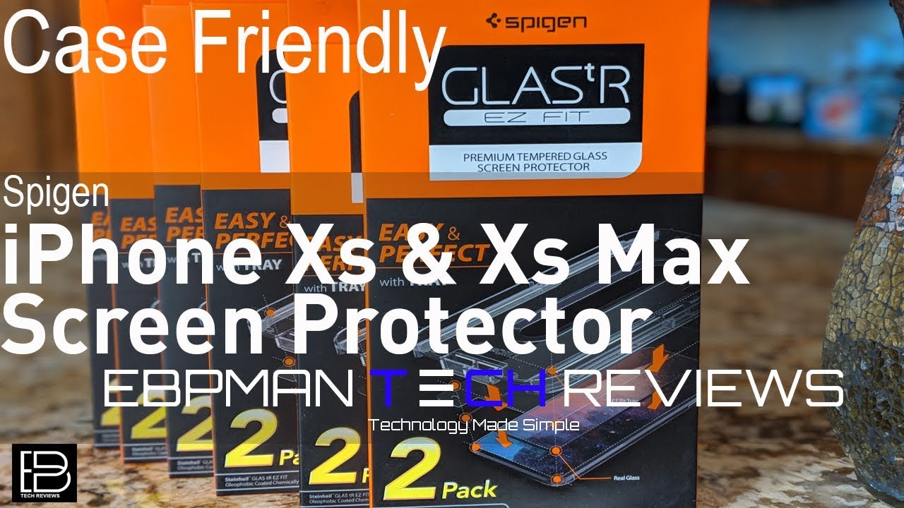 timeless design ff5d8 32078 Spigen Apple iPhone X & Apple iPhone Xs Max Glasss Screen Protector