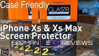 Spigen Apple iPhone X & Apple iPhone Xs Max Glasss Screen Protector