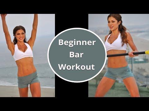 Body Bar Workout for Beginners - Weighted Bar Workout - Ballet Bar Workout