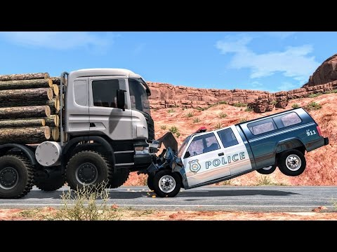 Crazy Police Chases #2 - BeamNG Drive Crashes