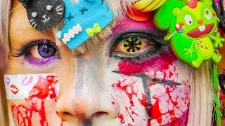 15 KAWAII & CREEPY JAPANESE Street fashion 2014/11|decora cosplay makeup halloween|原宿ファッションハロウィーンメイク Thumbnail