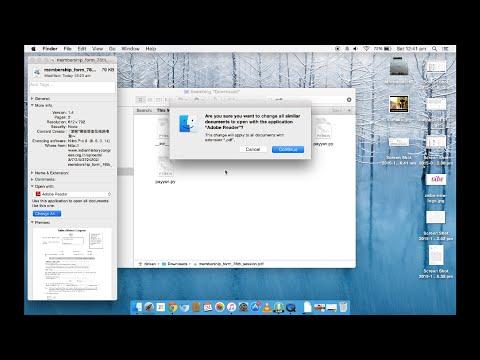 How to make Adobe Reader the default pdf reader on Mac OS