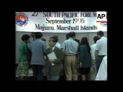 Marshall Islands - South Pacific Forum summit ends