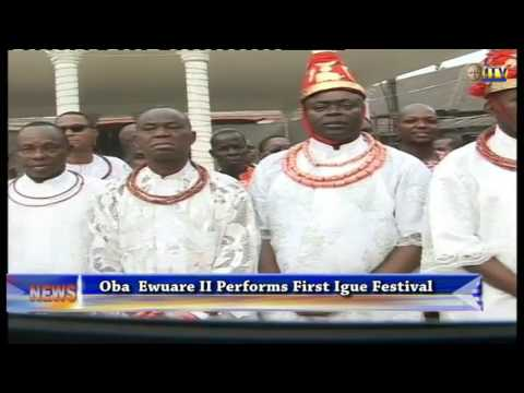 Oba Ewuare II performs first Igue Festival