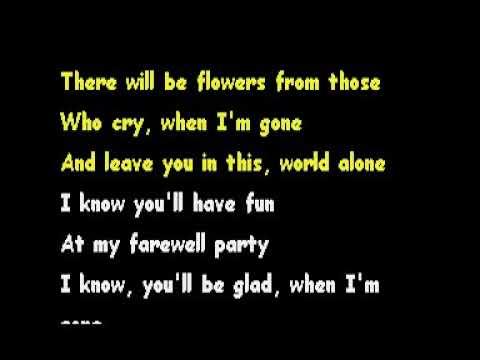 My Farewell Party- Gene Watson [Karaoke]