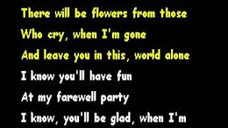 My Farewell Party- Gene Watson [Karaoke]