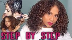 Sew-In Weave on Myself- Filipino Curly Hair