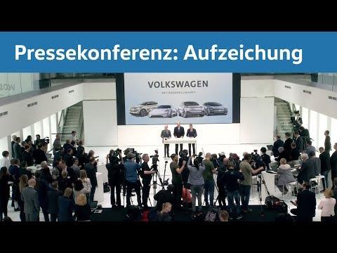 Live-Übertragung der Presseinformation zur Aufsichtsratssitzung der Volkswagen Aktiengesellschaft